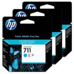 CZ134A Pack com 3unids HP 711 Cyan  29ml cada