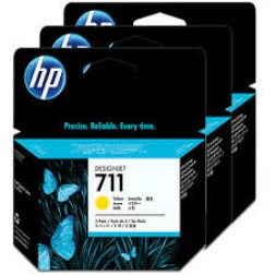 CZ136A Pack com 3unids HP 711 Yellow  29ml cada